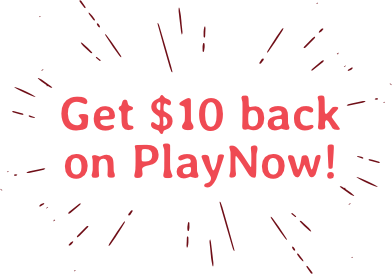 Get $10 back on PlayNow!