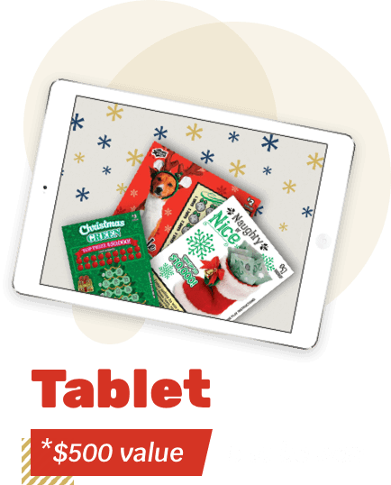 Tablet - *$500 value - 5 to be won